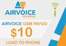 Picture of Airvoice GSM $10.00 - Load To Phone