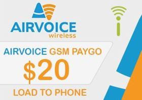 Picture of Airvoice GSM $20.00 - Load To Phone