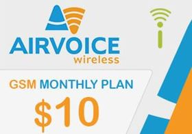 Picture of Airvoice GSM Monthly Plan $10.00