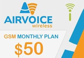 Picture of Airvoice GSM Monthly Plan $50.00