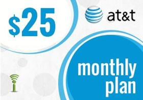 Picture of at&t Monthly Plan $25.00