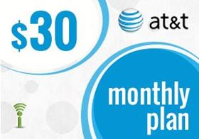 Picture of at&t Monthly Plan $30.00