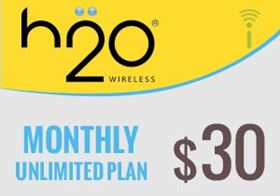 Picture of H2O Monthly Unlimited Plan $30.00