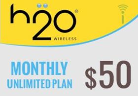 Picture of H2O Monthly Unlimited Plan $50.00