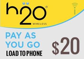 Picture of H2O Pay As You Go $20.00 - Load To Phone