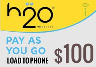 Picture of H2O Pay As You Go $100.00 - Load To Phone