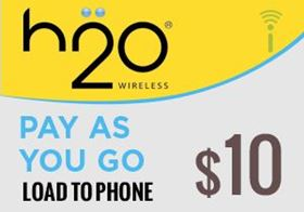 Picture of H2O Pay As You Go $10.00 - Load To Phone
