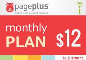 Picture of Page Plus Monthly $12
