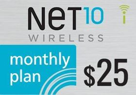 Picture of Net10 Monthly Plan $25.00