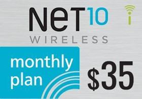 Picture of Net10 Monthly Plan $35.00