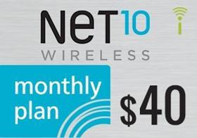 Picture of Net10 Monthly Plan $40.00