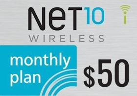 Picture of Net10 Monthly Plan $50.00