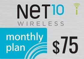 Picture of Net10 Monthly Plan $75.00