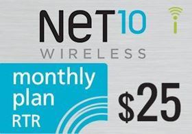 Picture of Net10 Monthly Plan RTR $25.00