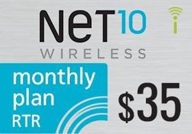 Picture of Net10 Monthly Plan RTR $35.00