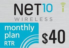 Picture of Net10 Monthly Plan RTR $40.00