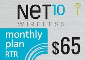 Picture of Net10 Monthly Plan RTR $65.00