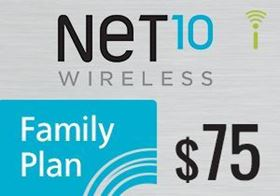 Picture of Net10 Family Plan $75.00