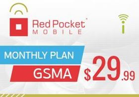 Picture of Red Pocket Mobile Monthly Plan GSMA $29.99