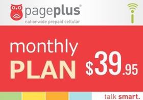 Picture of Page Plus Monthly $39.95