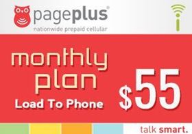 Picture of Page Plus Monthly $55 - Load To Phone