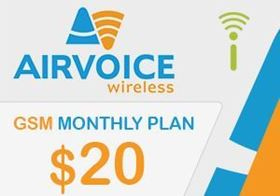 Picture of Airvoice GSM Monthly Plan $20.00