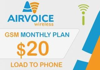 Picture of Airvoice GSM Monthly Plan $20.00 - Load To Phone