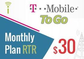 Picture of T-Mobile Monthly Plan $30.00 - RTR