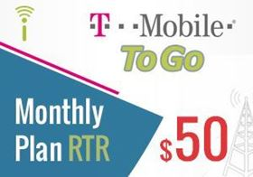 Picture of T-Mobile Monthly Plan $50.00 - RTR