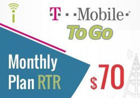 Picture of T-Mobile Monthly Plan $70.00 - RTR